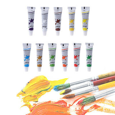 12 Color Acrylic Paint Set 12 ml Tubes Artist Draw Painting Pigment Art Supply