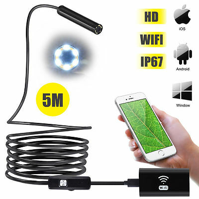 Endoscope Inspection Camera Semi Rigid Hard Tube Software for Iphone IOS/Android