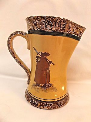 """Royal Doulton Pitcher Watchman, What of the Night?   Tan & Brown  7"""" tall"""