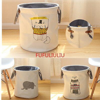 Sweet  Kid Animal Sundries Clothes Bags Basket Toys Storage Bucket Grocery Box