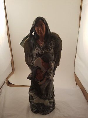 P & R Sculptures Hand Made and Hand Painted Native American Statue
