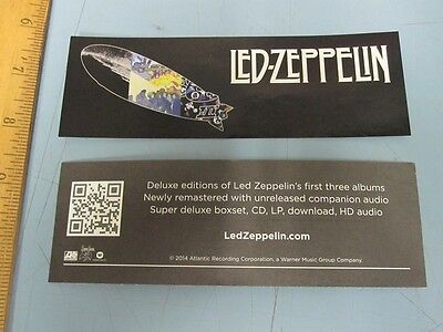 LED ZEPPELIN 2014 deluxe reissue remasters promotional sticker New Old Stock