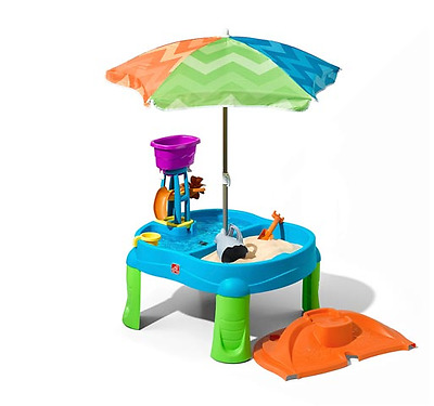 Step2 Step 2 Beachside Splash Sand and Water Play Table Sandpit Outdoor Toy