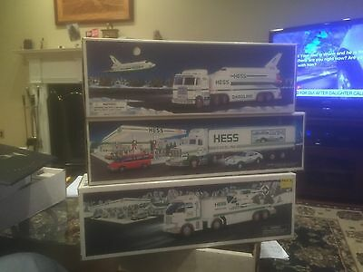 Hess Trucks Set of 3 Years 1999 1992 And 2006 New In Box Mint Best Offer