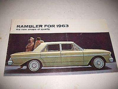 "1963 RAMBLER SALES BROCHURE ""The New Shape of Quality""  CANADIAN MARKET"