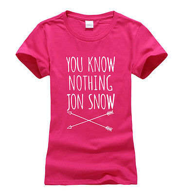 You know nothing Jon Snow Women T-shirt Game Of Thrones