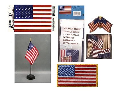 USA Heritage Flag Pack - American 3' x 5' Flag, 2 Lapel Pins, Vinyl Flag Decal