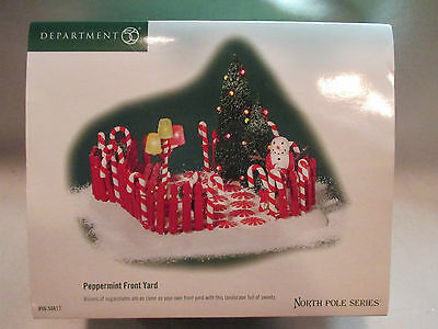"""Dept 56 North Pole Series """"Peppermint Front Yard""""  #56 56817"""