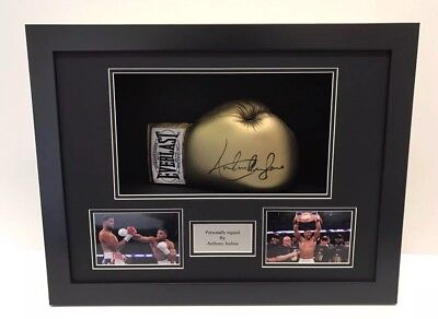 FRAME DISPLAY CASE FOR SIGNED BOXING GLOVE WITH 6x4 PHOTO HOLES & PLAQUE AMAZING