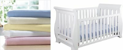 2 x Cot Bed Fitted Sheets Soft Jersey Fitted Sheets 60 x 120 cm | 100% Cotton |