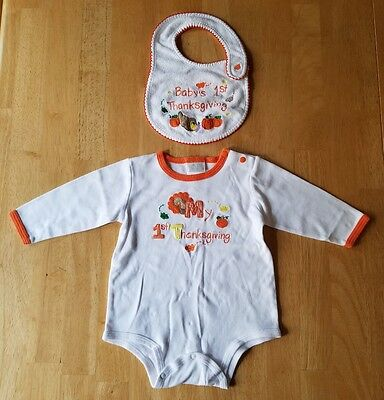 Baby Boys/Girls Clothes, First Thanksgiving Outfit Set, Size 9 Months, Carter's
