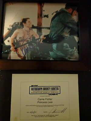 Carrie Fisher Star Wars Autographed Photo 8x10 with COA
