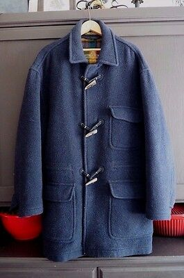 STRUCTURE Men's Size L Wool Blend Italian Made Duffle Coat (AS IS)