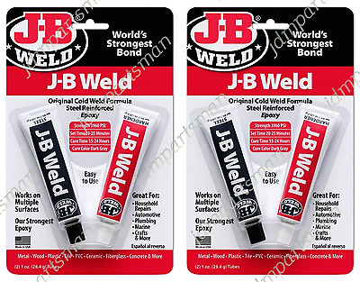 J-B Weld 8265-S (1oz Tubes) Epoxy Adhesive - Steel Reinforced Epoxy (Pack of 2)