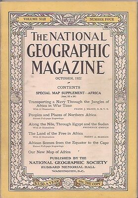 national geographic-OCT 1922-ALONG THE NILE,THROUGH EGYPT AND THE SUDAN.