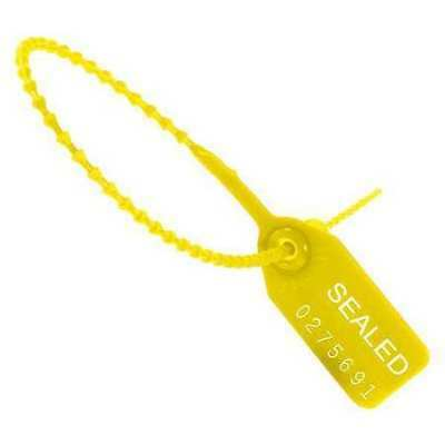 """PARTNERS BRAND SE1001Y """"Tug Tight"""" Pull-Tight Seals,9"""",Yellow,PK100"""