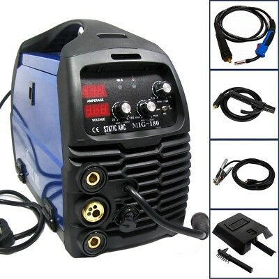 Mig 180A Igbt Inverter Dc Welder 3-In-1 Mma Tig Gas Gasless Wire Welding Machine