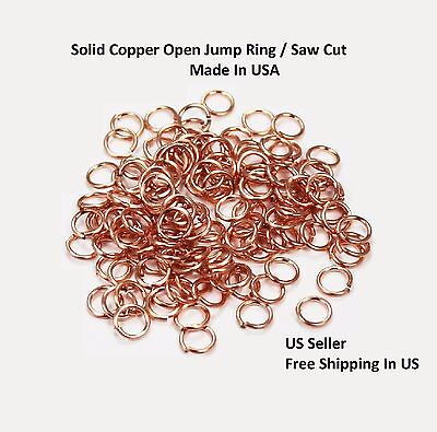 CHAIN MAILLE 18GA WIRE 10MM O//D  150pcs 1 OZ ANTIQUE SOLID COPPER  JUMP RING