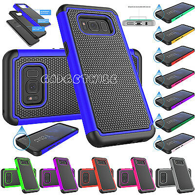 Soft Shockproof Hard Back Dual Layer Case Cover For Samsung Galaxy S8 & S8 Plus