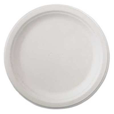 """CHINET HUH21232 Paper Plate,Disposable,93/4"""",White,PK500"""