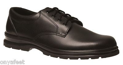 Grosby Educate Snr Mens Black School Work Formal Casual Shoes Sizes 6 - 13