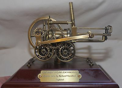 THE FIRST STEAM LOCOMOTIVE - Brass (Articulated Moving) Display Model