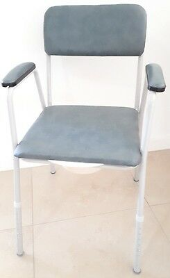 Blue bedside commode chair