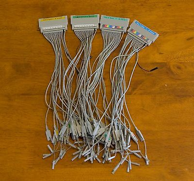 Lot of four HP Agilent Keysight Logic Analyzer Pod Breakout Cable Accessories