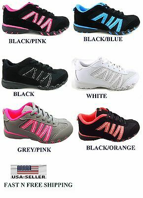 New Youth Kid's Girl's Athletic Casual Sneaker Tennis Comfort Shoes size:10 to 4