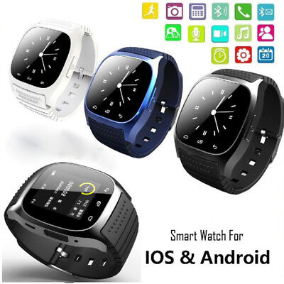 M26 Bluetooth Smart Wrist Watch Sync Phone Mate For IOS Android Smartphone Reloj