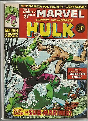 Vintage Marvel World / Incredible Hulk comic book #71 from February 1974