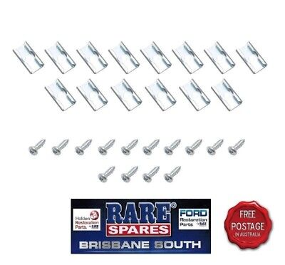 Holden Hd Hr Upper Door Chrome Moulding Clip And Screw Kit Rare Spares 186S X2