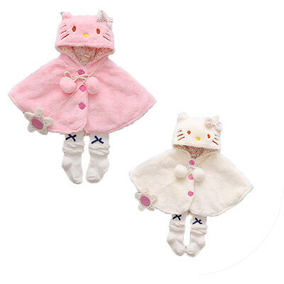 Newborn Baby Girls Hooded Fur Coat Winter Warm Thick Cloak Jacket Clothes 0-24M