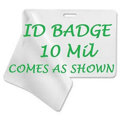 ID BADGE CARD Laminating Pouches 2.56 X 3.75 100 With Slot 10 Mil