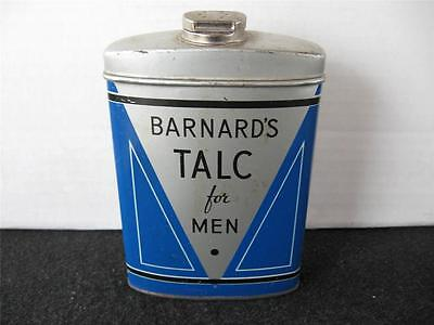 Vintage Barnard's Talc for Men Powder Tin