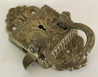 Antique BRASS ICE BOX LOCK Only Dated 1897 - No Key