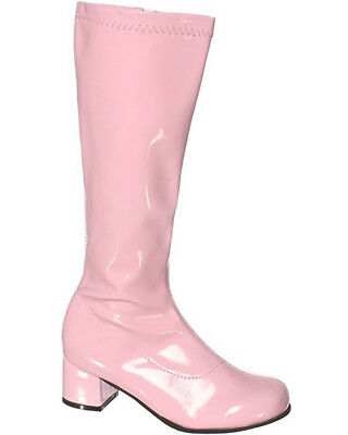 Pink Patent Go Go Kids Boots