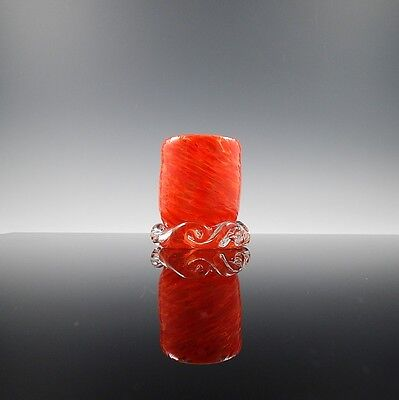 Glassware/Votive USA Hand Blown Art Glass (Orange)