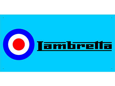 Advertising Display Banner for Lambretta Sales Service Parts