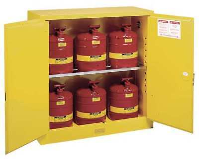 JUSTRITE 8930208 Flammable Safety Cabinet,30 Gal.,Yellow G2142211