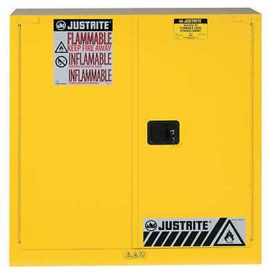 JUSTRITE 893030 Flammable Cabinet,40 Gal.,Yellow G2257930