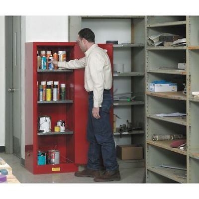 JUSTRITE 892201 Flammable Cabinet, 22 gal., Red