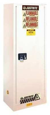JUSTRITE 892225 Flammable Cabinet, 22 gal., White