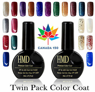 CANADA 150 Twin Pack HMD Soak Off premium sparkle shine UV LED Gel Nail Polish