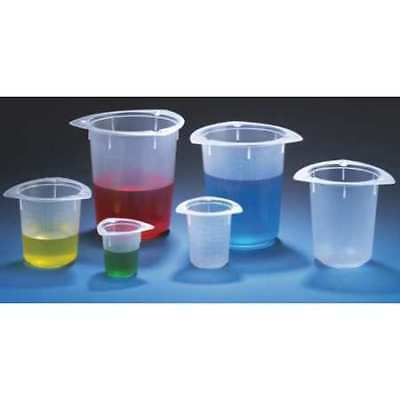 GLOBE SCIENTIFIC 3643 Beaker,Polypropylene,400mL,PK100