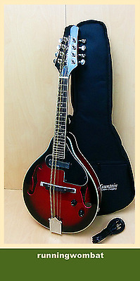 Smoky Mountain SM62E Electric A-Style Mandolin Dark Cherry + Soft Case