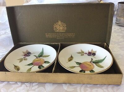 1974, Royal Worcester Arden jewellery dishes