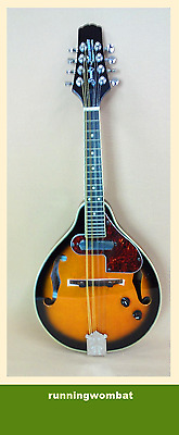 Smoky Mountain SM66E Electric A-Style Mandolin - Vintage Sunburst + HARD Case