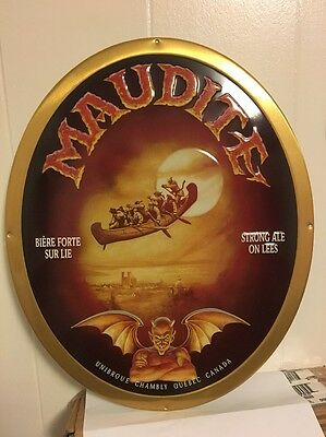 Unibroue Maudite Tin Tacker Sign Approx 15x18 Nice!
