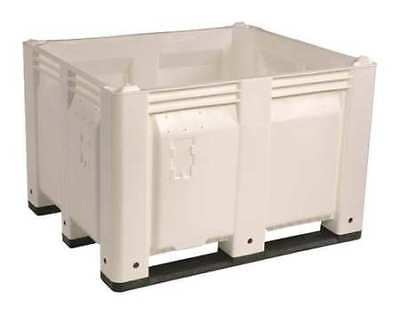 """DECADE PRODUCTS M40SWH1 Bulk Container, White, 25-3/4""""H"""